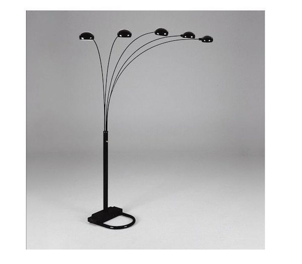 Spider Arc Arm sofa Sectionl Floor Lamp Gold & Black
