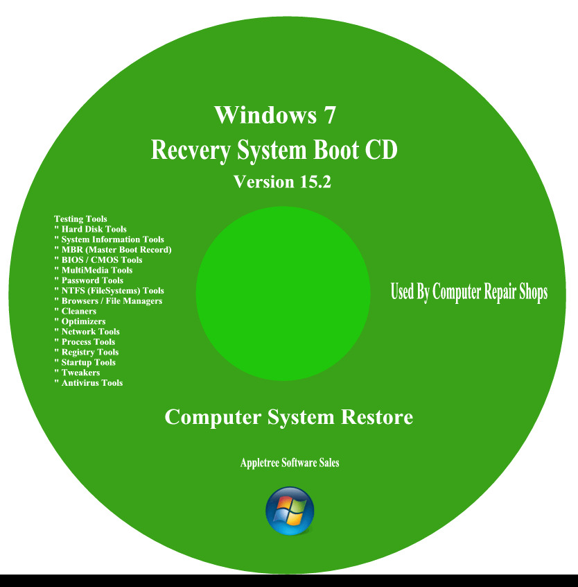 Acer Computer Repair Recovery Boot Cd For Window 7 Xp