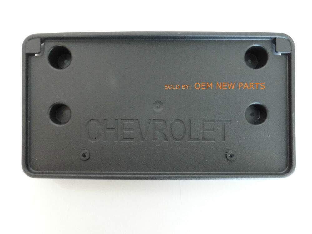 2013 2016 Chevrolet Traverse Front License Plate Mounting