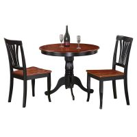 3-Piece Kitchen Nook Dining Set-Small Kitchen Table and 2 ...