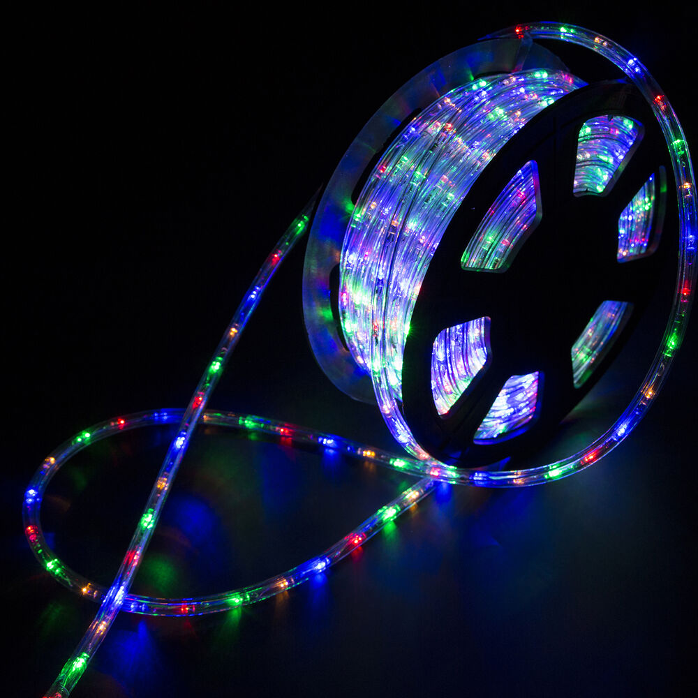 Outdoor Party Lights 100ft Multicolor Connectable Led Rope Light In Outdoor Xmas Party Lighting 110v 814644020092 Ebay