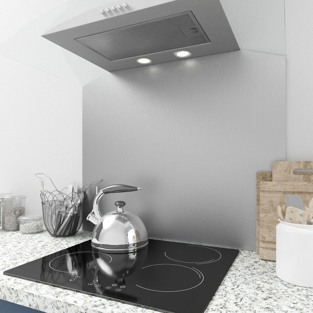 Stainless Steel Splashback Myappliances Ref29708 90cm X 75cm Curved Stainless Steel Splashback 5055795330684 Ebay