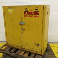 Justrite Flammable Liquid Storage Cabinet RM-8360 Used ...