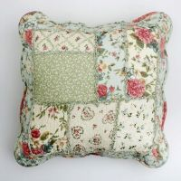 Shabby Chic Throw Cushion / Pillow Cover Pink Powder Blue ...