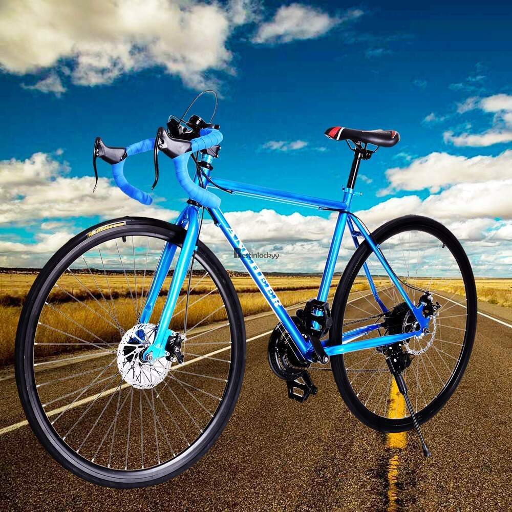 Racing Bike Blue 700c Aluminum Road /commuter Bike Racing Bicycle 21
