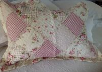Shabby Chic Pillow Sham Case Cover Slip Pink Quilted ...