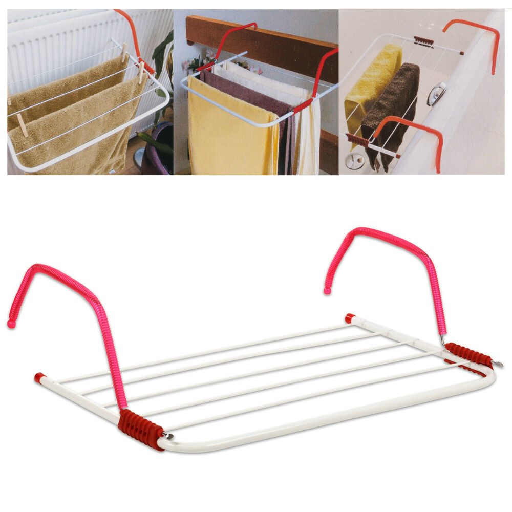 Folding Radiator Clothes Airer Towel Laundry Dryer Holder