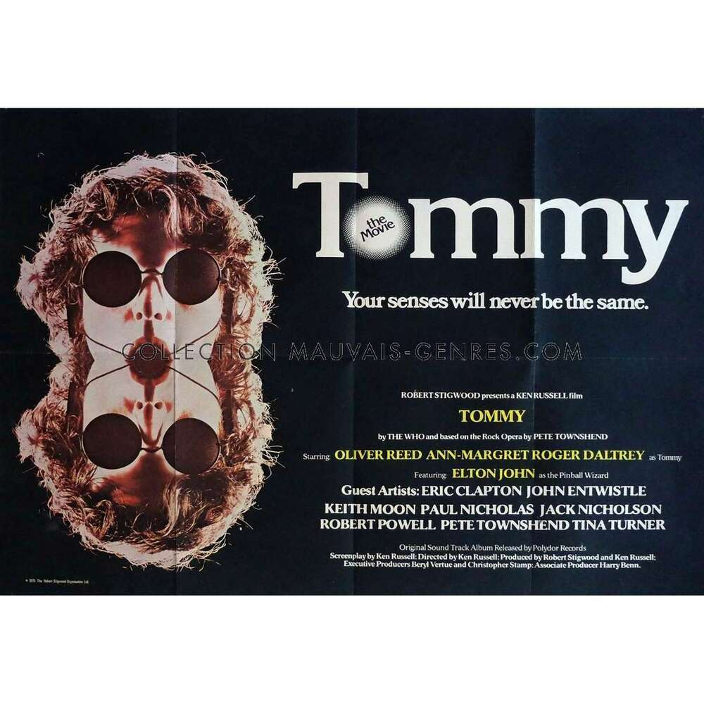 Poster 30x40 Tommy Movie Poster 30x40 In. British - 1975 - Ken Russel