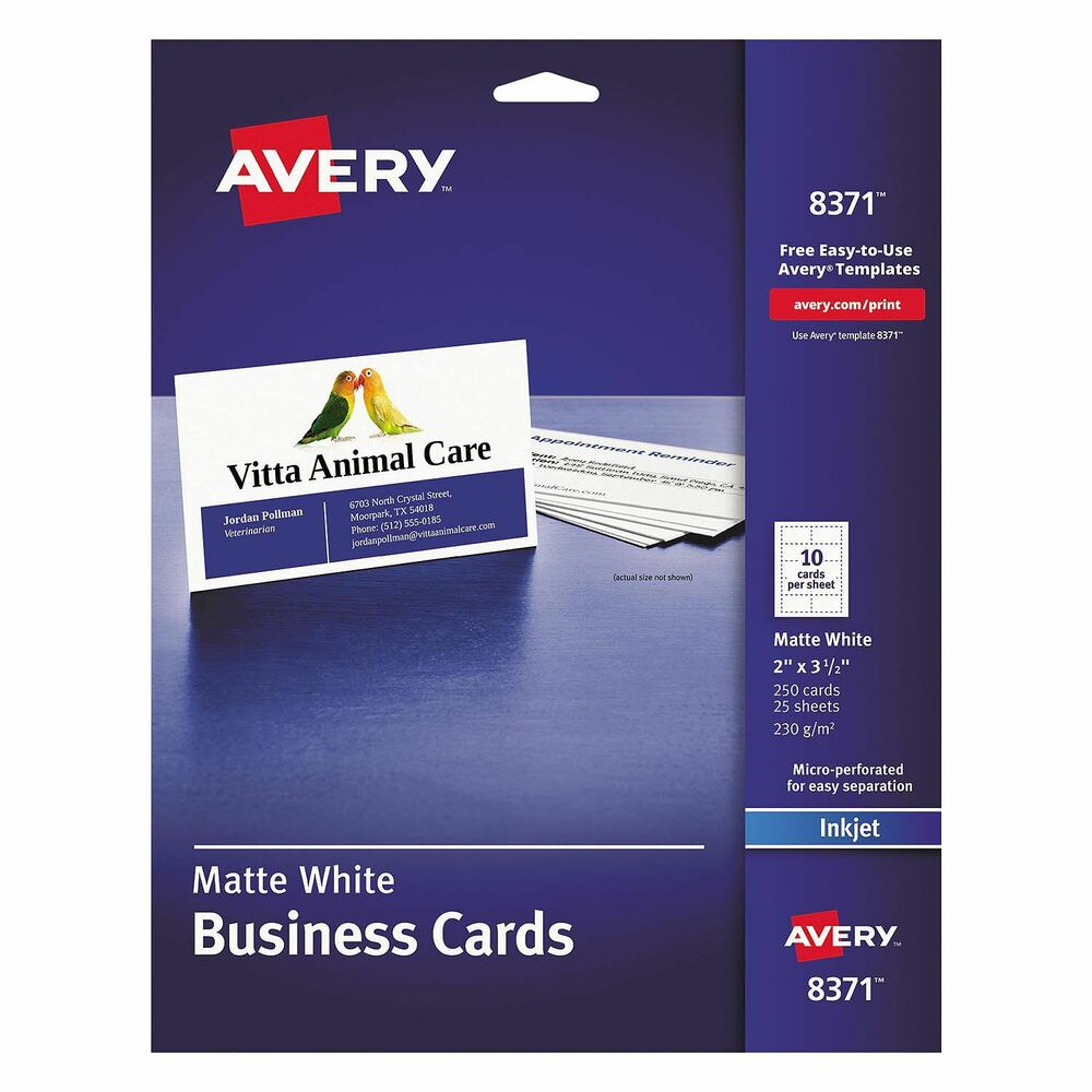 avery business cards 8371