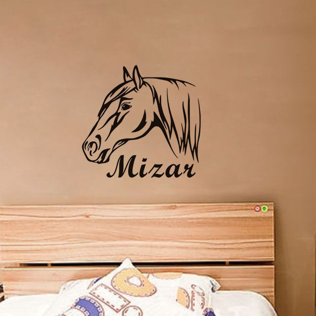 Horse Head Personalized Home Decals Your Name Wall Decor