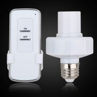 E27 Screw Wireless Remote Control Light Lamp Socket Bulb ...