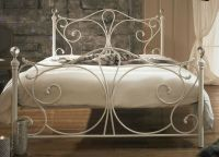 Antique French Metal Bed Frame Victorian Style White ...