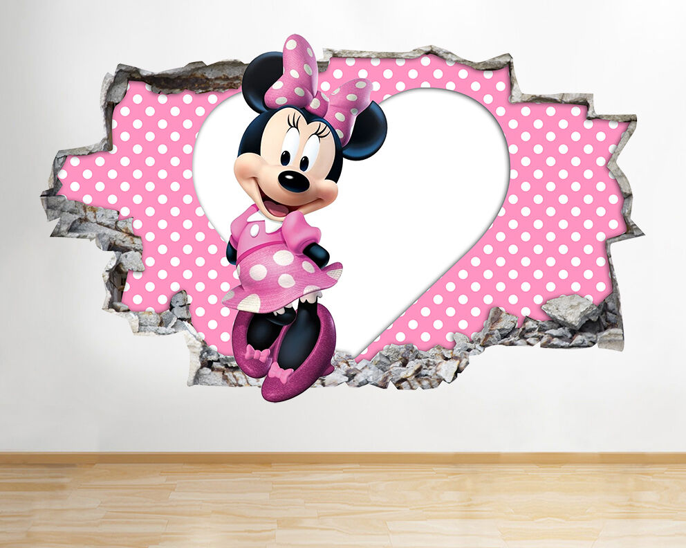 Girl Nursery Wallpaper Uk Wall Stickers Minnie Mouse Cute Nursery Girl Decal Poster