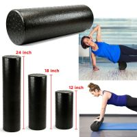 Black Extra Firm High Density Foam Roller Muscle Back Pain ...