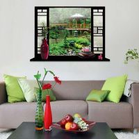 Home Room Wall Decor 3D False Window Wall Stick Vinyl Art ...