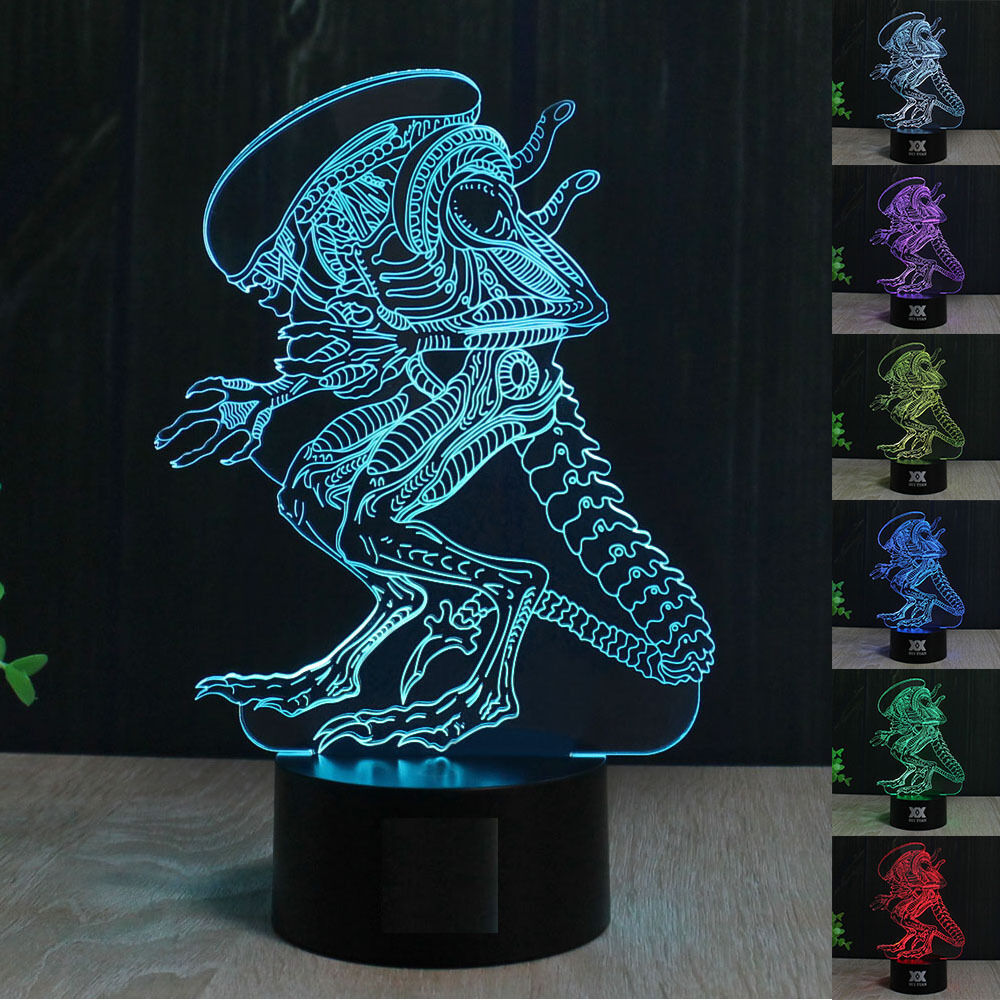 Lampara Led Colores Aliens Predators Lampara Led 7 Colores Led Lamp Change Its Color I Ebay