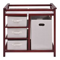 Infant Baby Changing Table with 3 Basket Hamper Diaper ...