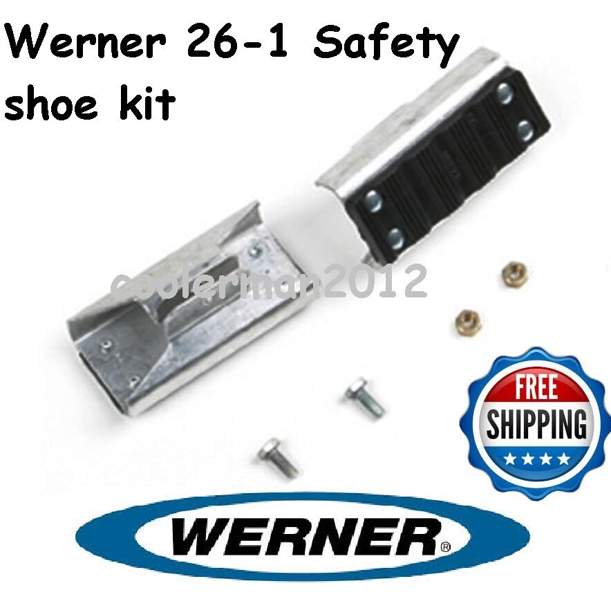 New Werner 26 1 Replacement Shoe Feet Kit Aluminum