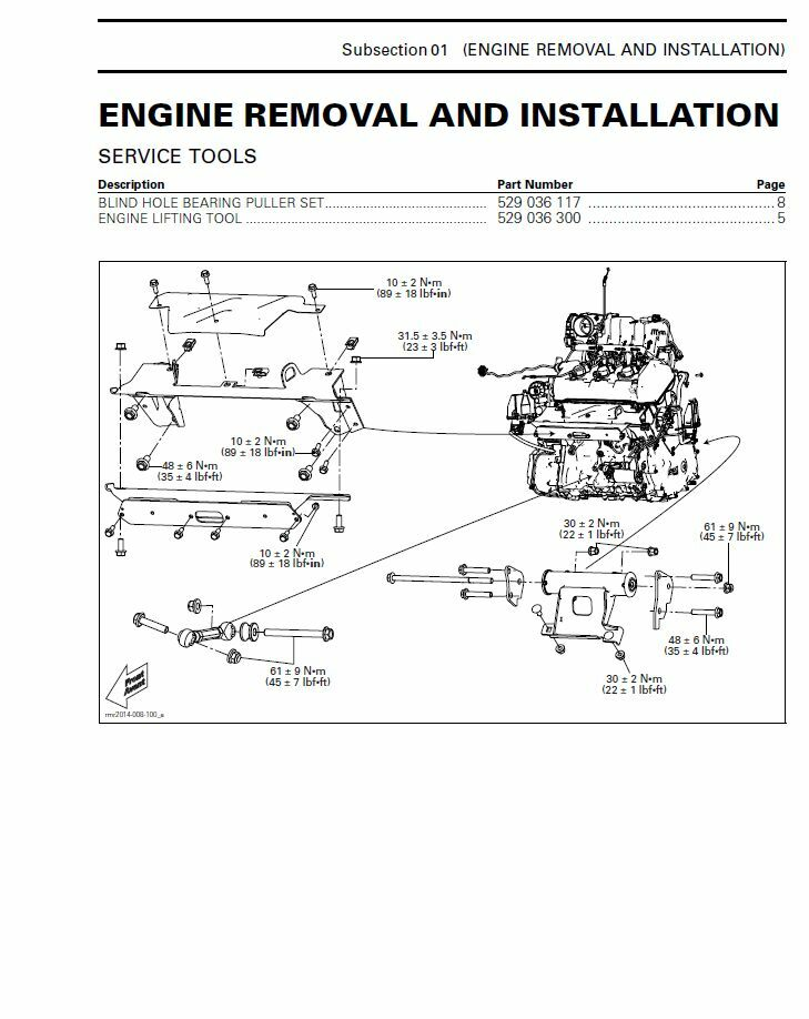 2013 Can-Am Spyder RS RT ST series motorcycle service manual 3-ring