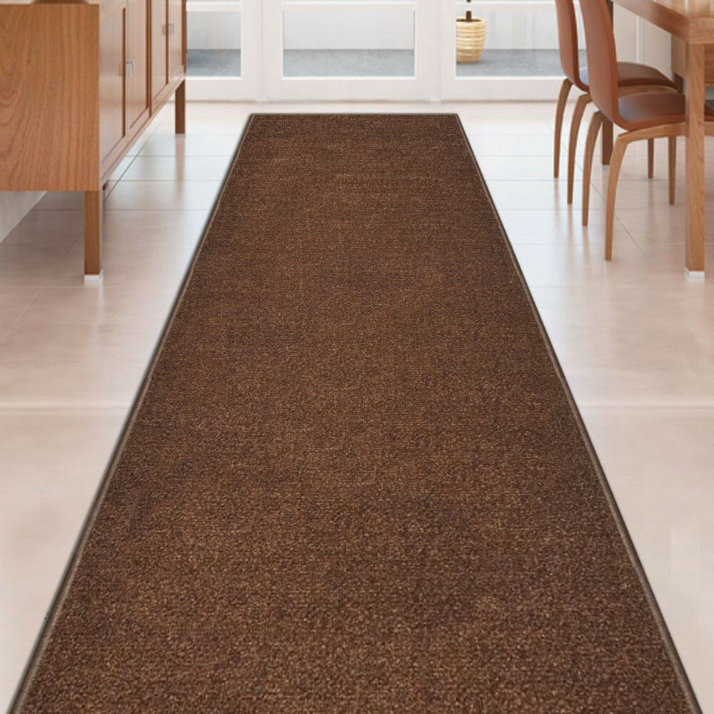 Alfombras Para Escaleras Custom Size Brown Stair Hallway Runner Rug Rubber Back Non Skid 22