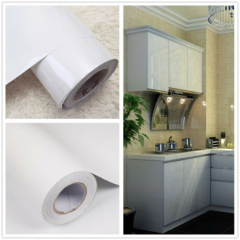 Contact Paper For Furniture White Self Adhesive Wallpaper Kitchen Furniture Cupboard Vinyl