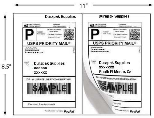 2000 Blank Plain Shipping Labels 85x55 / 2 per page 1000 Sheets