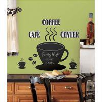 COFFEE CUP CHALKBOARD wall stickers MURAL 22 decals cafe ...