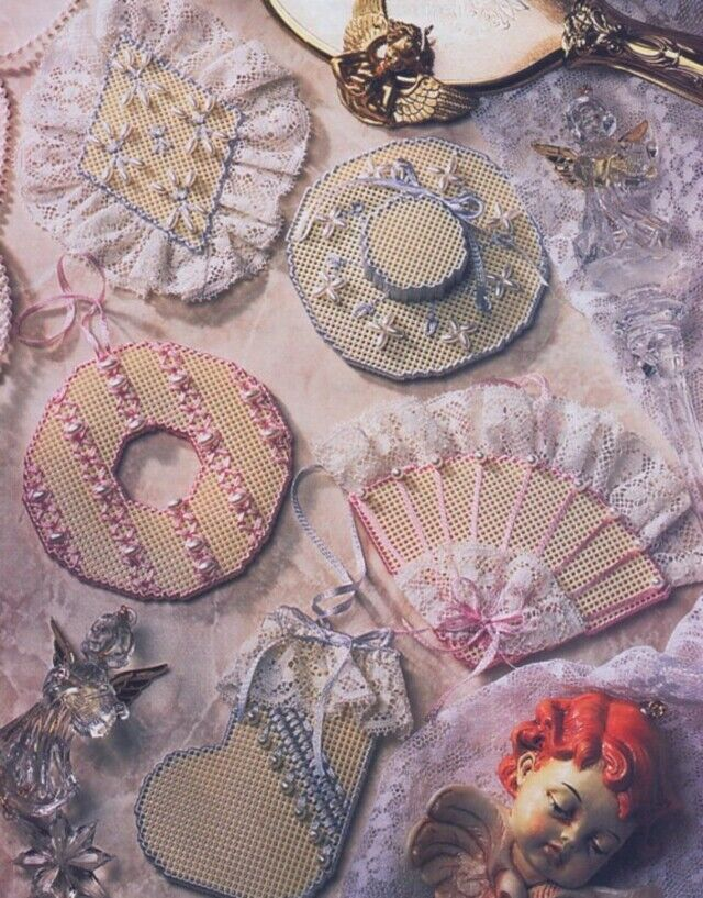 Towel Hanger Victorian Ornaments Ring Fan Hat Sock New Annie's Plastic