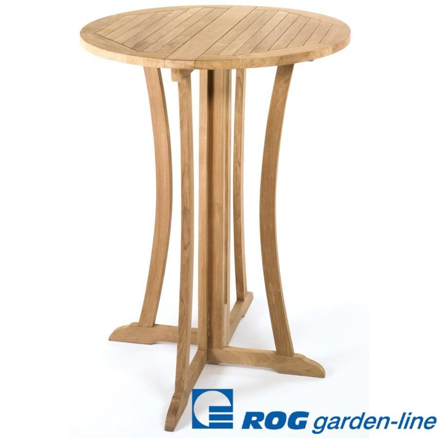Bartisch Teak Roggemann Tl8120 Teak Bar Table Ø 90 Cm Standing Table Bar Round