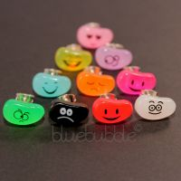 FUNKY BOYS MENS SINGLE JELLY BEAN FACE EARRING FUN COOL