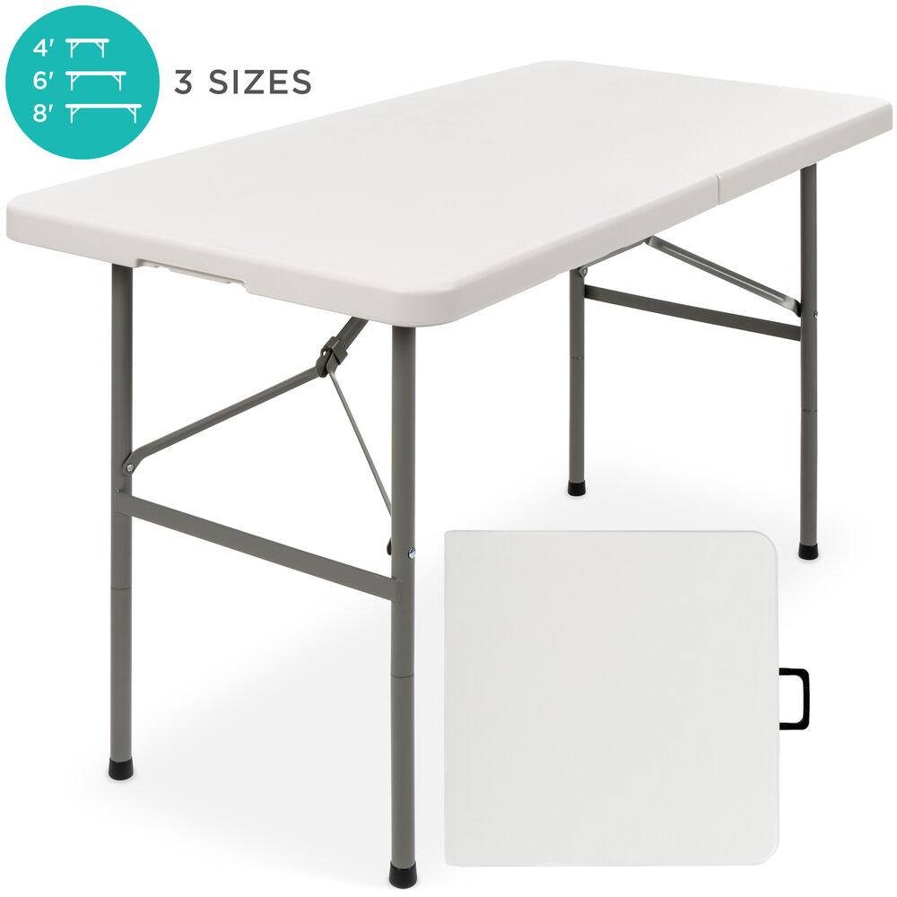 Tisch Klappbar Bcp 4ft Portable Folding Table - White | Ebay