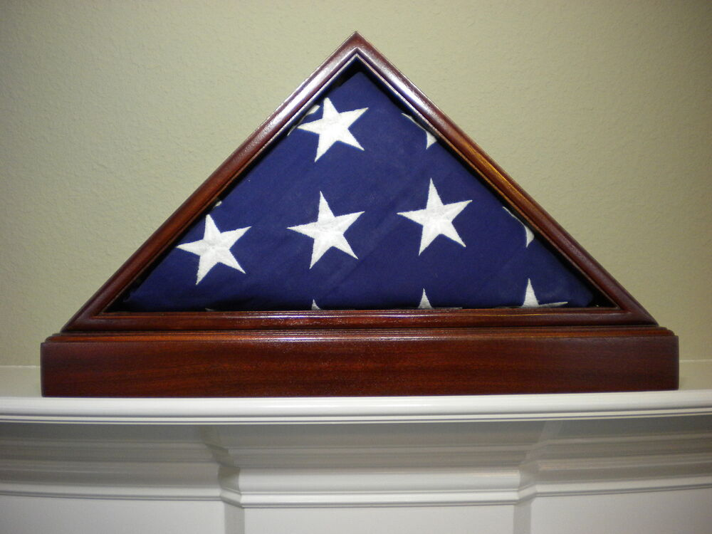 5 X 9 Sapele With Base Flag Display Case American Military