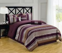 Luxury California King Size 7pc Claudia Purple Comforter ...