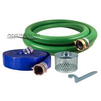 "2"" PVC Water Suction and Water Discharge Hose Kit ..."
