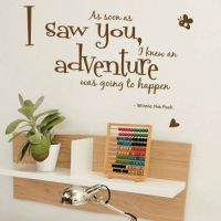 Winnie The Pooh Aa Soon As I Saw Children Art Wall Quote ...