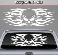 Design #118-01 SKULL Rear Window Decal Sticker Vinyl ...