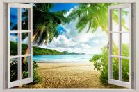 Beach Window Murals
