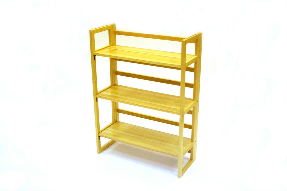 3 Tier Wooden Folding Book Shelf Book Shelves Book Cases