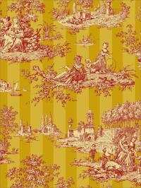 Wallpaper Designer French Country English Cottage Toile ...