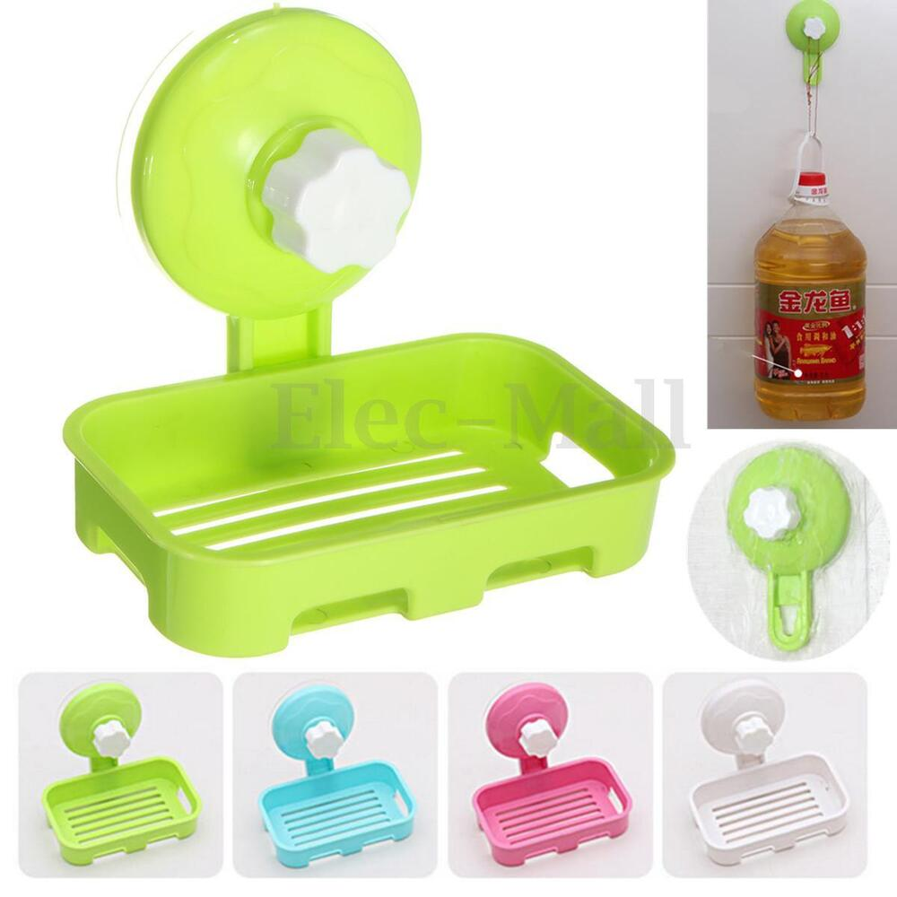 Durable Plastic Bathroom Shower Strong Suction Cup Soap