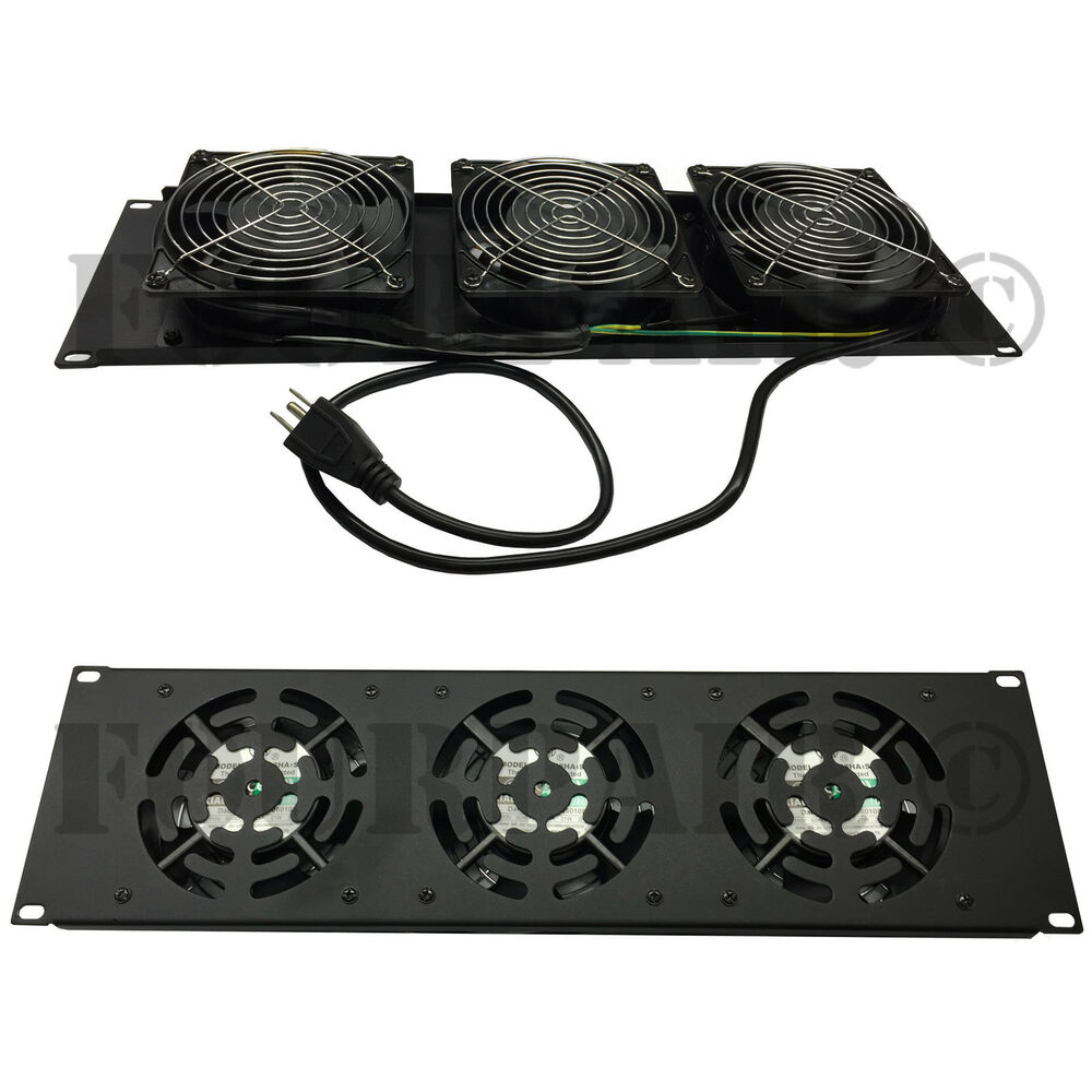 3 Fan 120mm 19quot Rack Mount Cooling Panel System Dj Rack