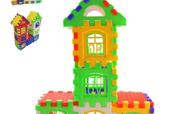Newly Child Learning Toy Kids Bricks House Building Blocks