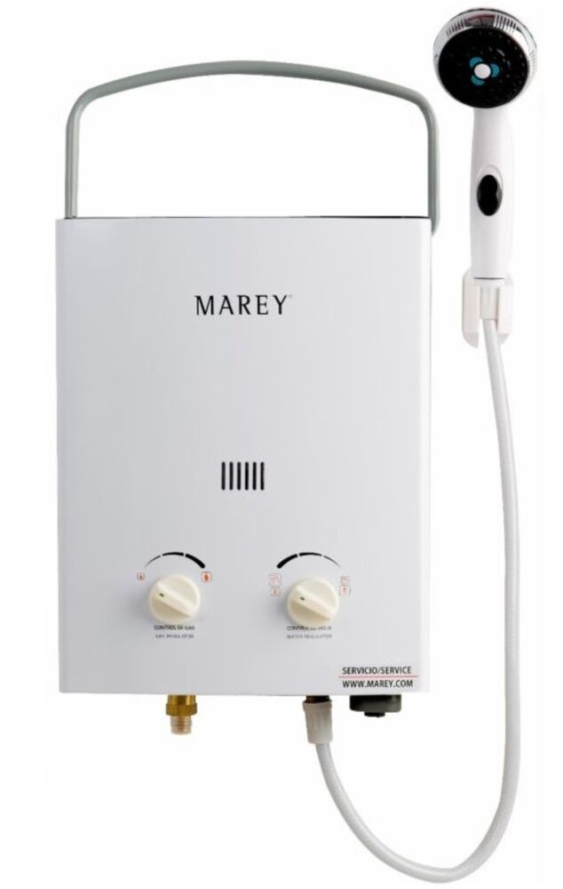 Marey Liquid Propane Gas 2gpm Portable Tankless Water