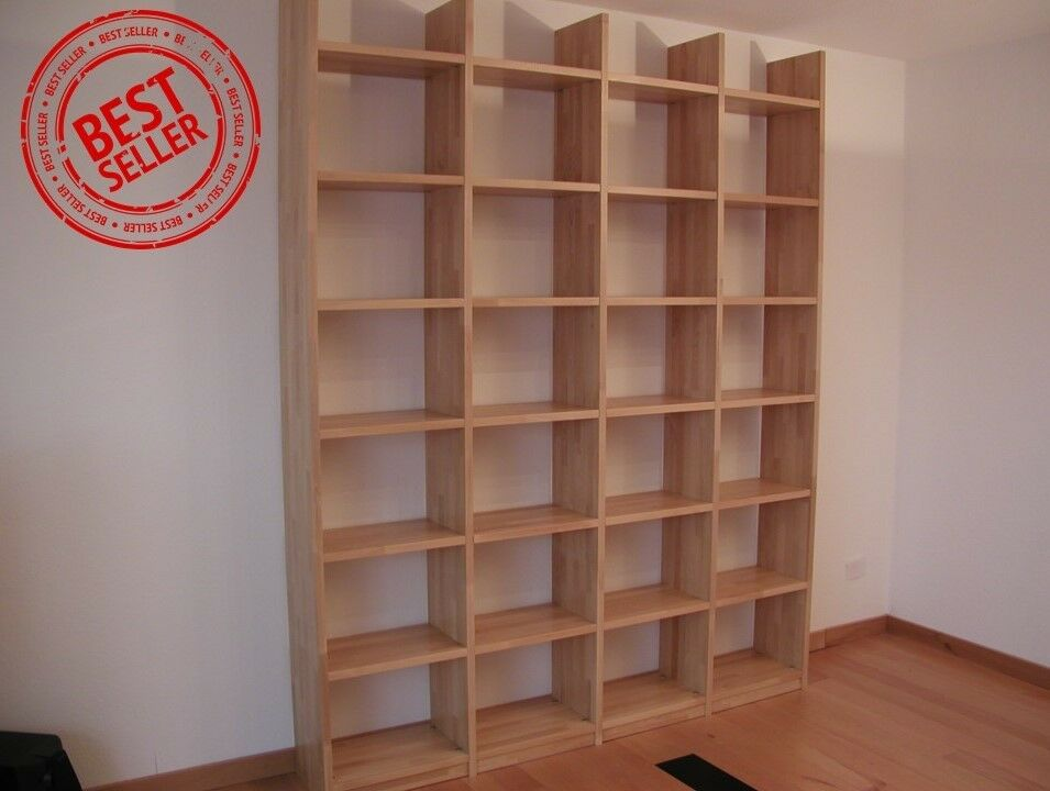Bücherregal Wildeiche Bücherregal Buche Massivholz Geölt Wandregal Holzregal
