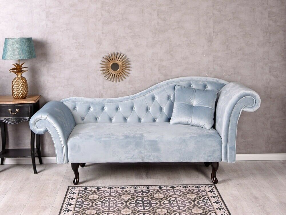 Ottomane Sofa Samt Sofa Chaieselonque Ottomane Hollywood Couch ...