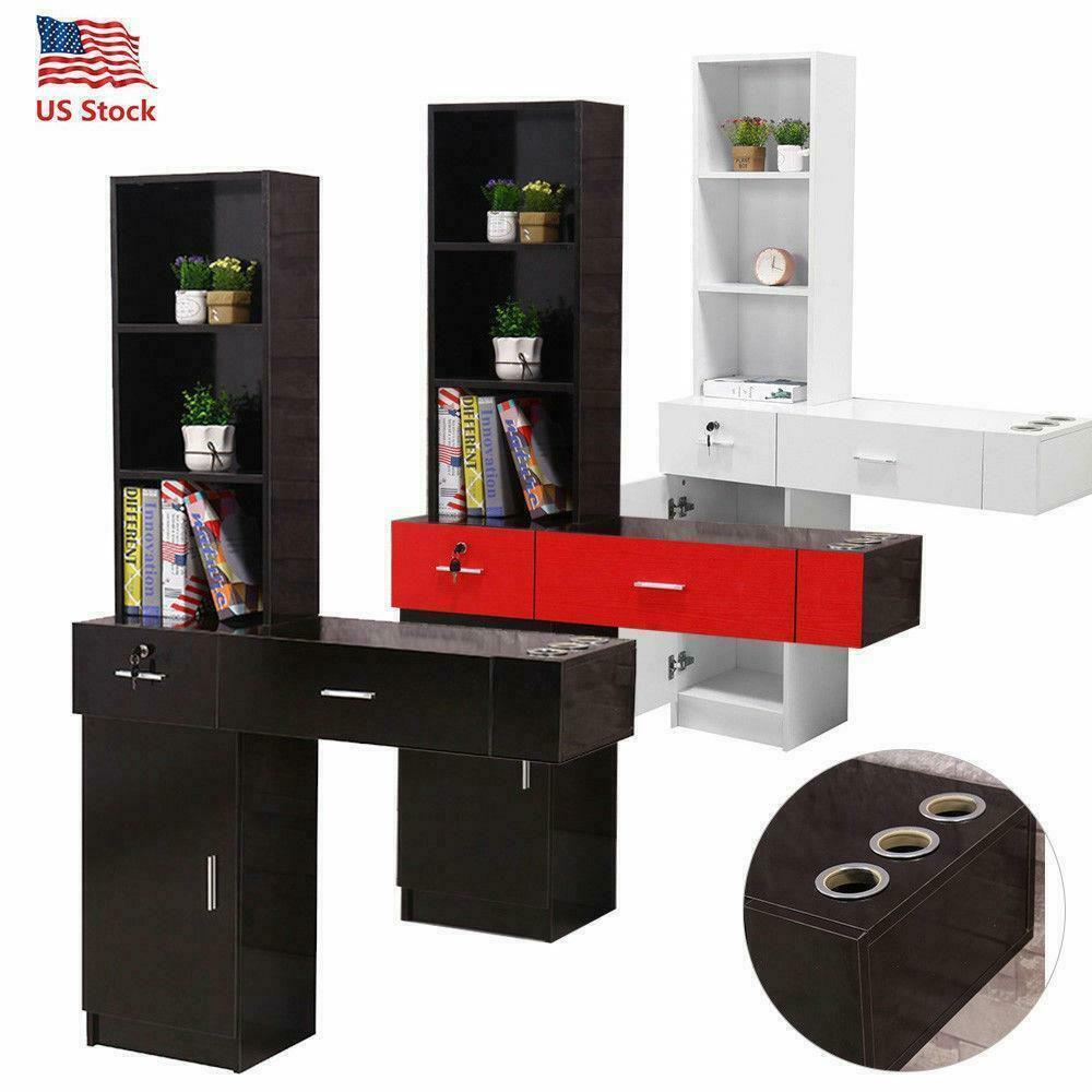 Arte Salon & Spa Wall Mount Beauty Salon Spa Cabinet Hair Styling Station Shelf Rack Drawer Desk Ebay