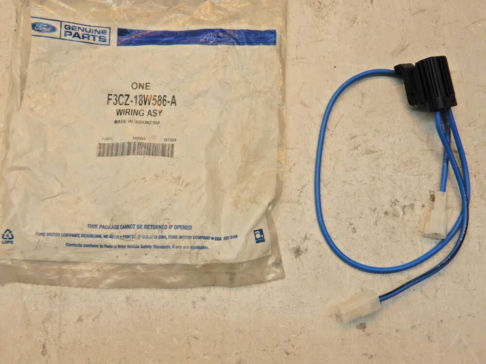 Ford Escort Tracker OEM Heater Wire Harness F3CZ-18W586-A eBay
