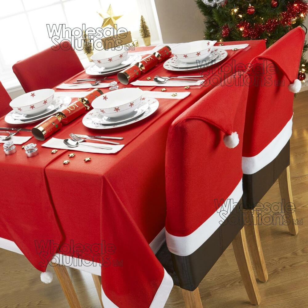 Christmas Tablecloths Australia Christmas Table Dining Set Decorations Place Mat Tablecloth Chair Cover Runner Ebay