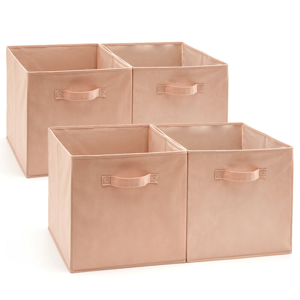 Ikea Cubes Ezoware 4pack Storage Basket Bin Cubes Boxes For Ikea Home Garden Shelves 13inch Ebay