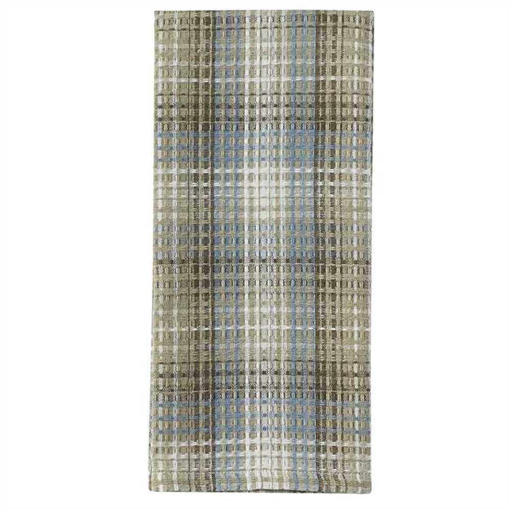 Plaid Taupe Country Prairie Wood Dish Towel Taupe Tan Blue Cream Plaid Waffle Weave Cotton 762242415379 Ebay